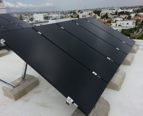 Εγκατάσταση NET-METERING σε επίπεδη οροφή στην Έγκωμη