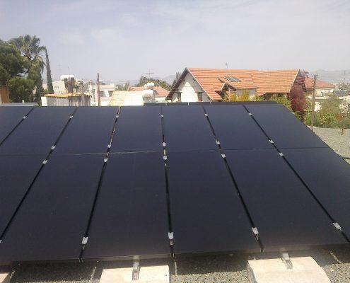 Εγκατάσταση NET-METERING σε επίπεδη οροφή στην Έγκωμη n2
