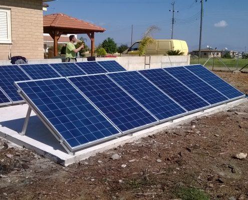 Εγκατάσταση NET-METERING σε επίπεδη οροφή στο Παλαιομέτοχο