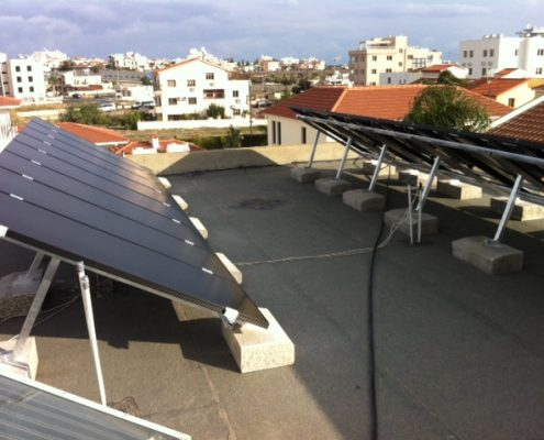 Εγκατάσταση NET-METERING σε επίπεδη οροφή στην Αραδίππου